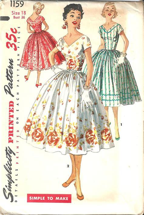 vintage pattern simplicity vintage sewing pattern dress simplicity 1159 fash diy