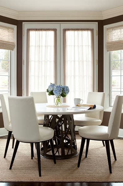 white leather dining chairs contemporary dining room