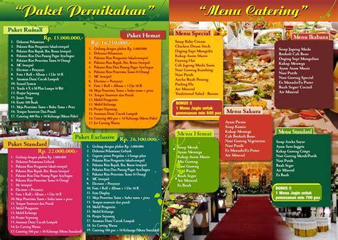 desain brosur menu amalia catering desain grafis surabaya