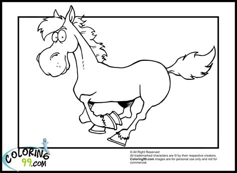 coloring pages of cartoon horses horse coloring pages team colors