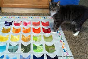 Cat Quilt A Modern Cat Finish For The New Year The Quilted Cat