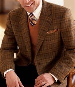Executive 2 button harris tweed sportcoat extended sizes navy 50 x