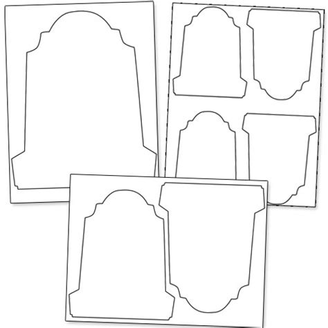 tombstone templates for tombstone template pdf clipart best