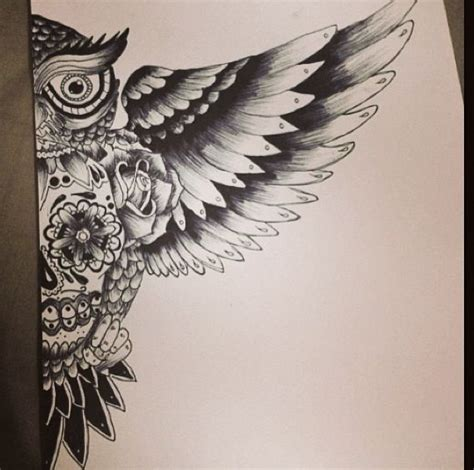 sugar skull owl tattoo designs owl sugar skull drawing looks like it d be an awesome
