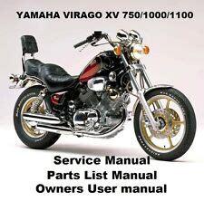 Yamaha Virago Xv 250 Xv250 Repair Service Manual Ebay