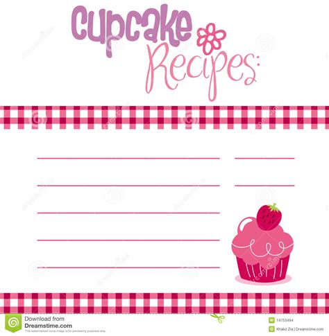 recipe card template free vector recipe template stock vector image of birthday cover