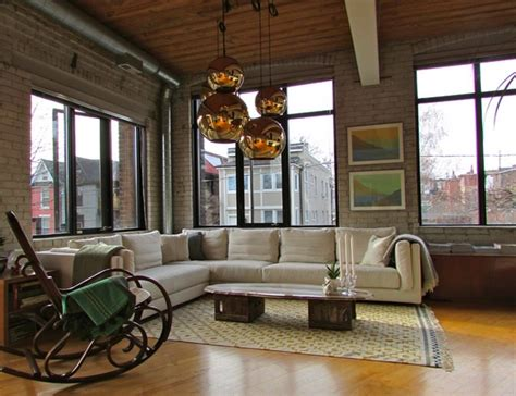 chic industrial living room designs