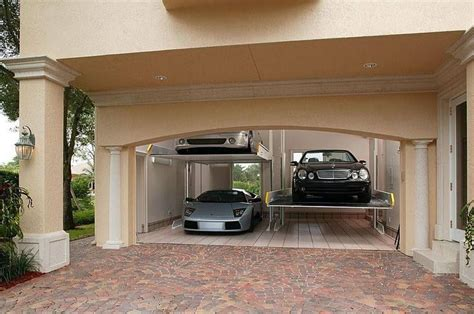 garage for cars two car garage turned into a four car garage with
