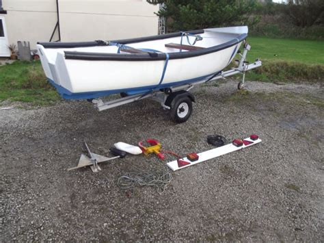13 ft fishing boat for sale uk sea river fishing day boat 13ft with snipe road trailer