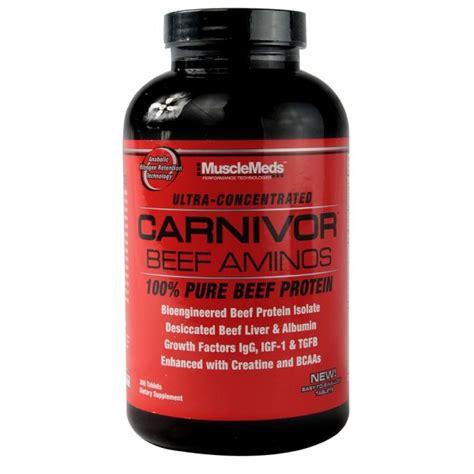 Amino Carnivor Beef 300 Tabs musclemeds carnivor beef aminos 300 table芻i蟲