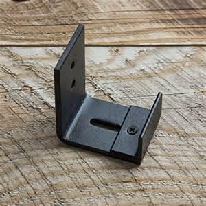 Barn Door Guides Wall Mount Floor Guide For Barn Door Hardware Powder Coated Black