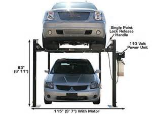 Used Car And Truck Lifts For Sale Garage Pro 4 Post 8 000 Lb Car Lift Truck Hoist Lifts