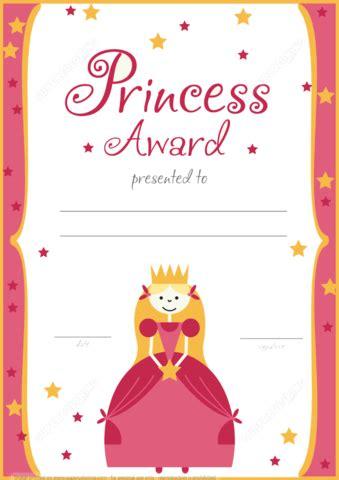 Princess Certificate Template printable princess award certificate free printable