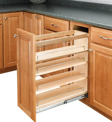 narrow kitchen cabinet organizers rev a shelf rev a shelf pullout base cabinet organizer