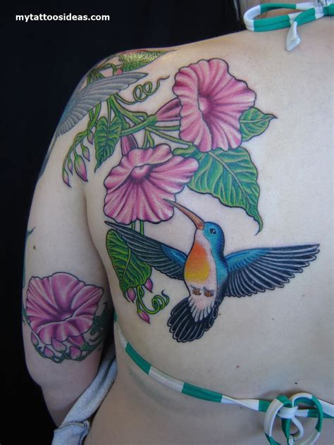 hummingbird with flower tattoo designs 100 hummingbird designs ideas for