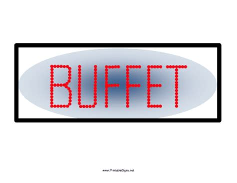 Printable Buffet Sign Sign Buffet Signs Templates