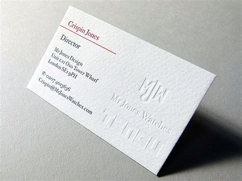 letterpress printed business cards for mr jones design