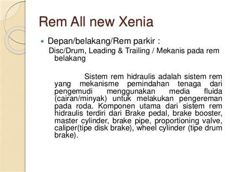 Minyak Rem Xenia spesifikasi mobil all new xenia tipe r m 1