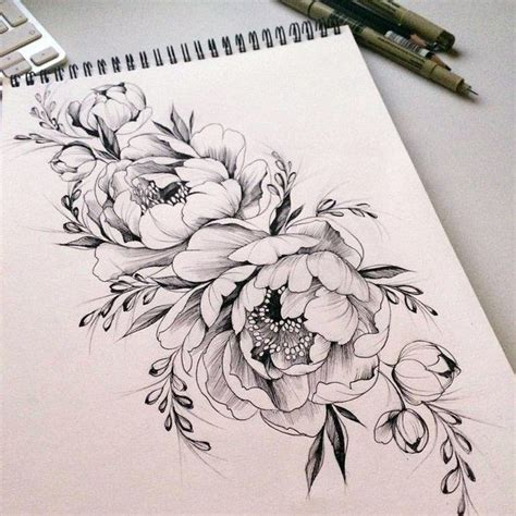 tattoo fonts with flowers best 25 flower outline ideas on
