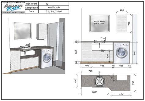 Formidable Salle De Bain Avec Vasque #6: Dimensions-meuble-salle-de-bain-beton-cire.jpg