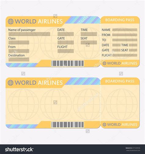 Airline Or Plane Ticket Template Boarding Pass Blank And Airplane Scouts Pinterest Ticket Plane Ticket Template