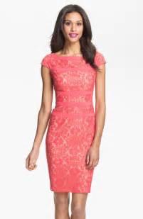adrianna papell lace sheath dress regular amp petite