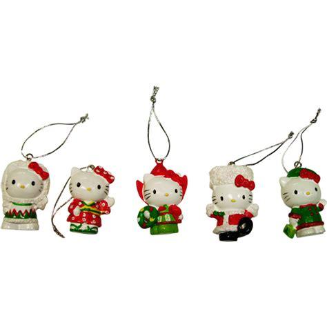hello 3d 5 ornament set