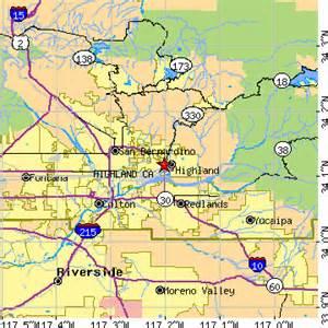 highland california ca population data races