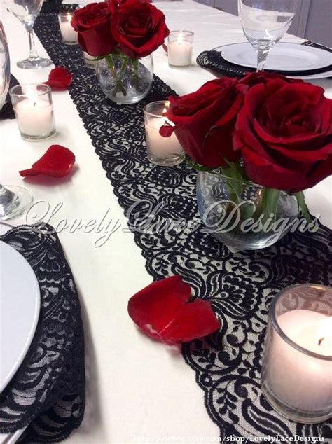 20 wide table runner lace table runner 12ft 20ft x 7in wide black wedding