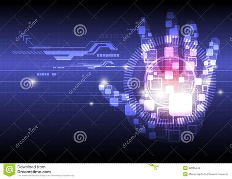 is design digital digital hand technology background stock vector