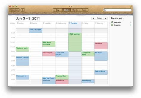 Calendar Apple Mac Basics Ical Os X And Earlier Apple Support
