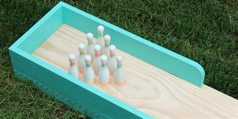 backyard bowling lane remodelaholic diy indoor outdoor bowling lane