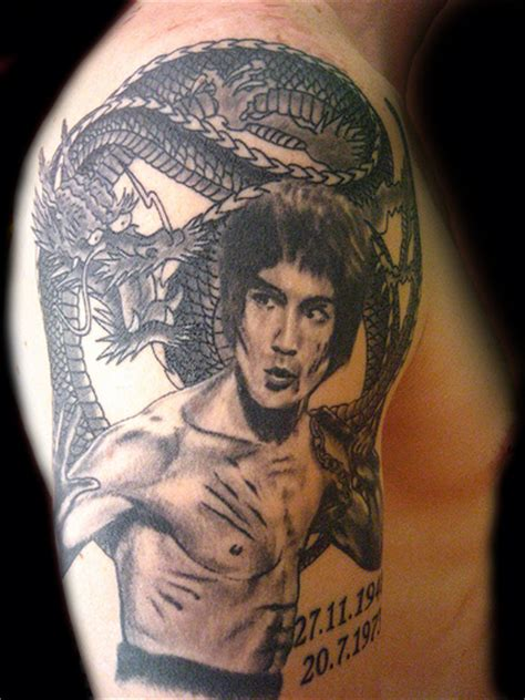 bruce lee tattoo tatuaje bruce y pupa granada flickr