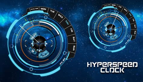 futuristic clock hyperspeed clock for xwidget by jimking on deviantart