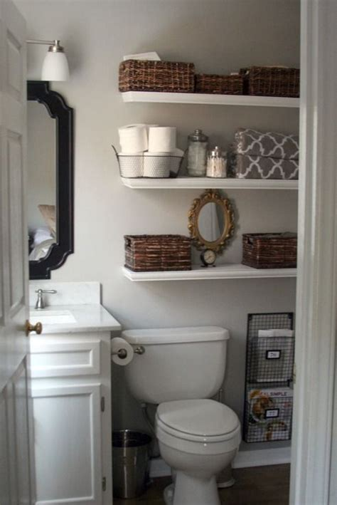 26 simple bathroom wall storage ideas shelterness intended picture of simple floating shelves over the toilet