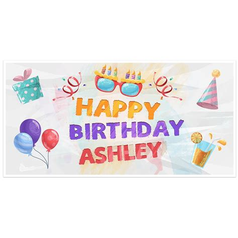 personalized birthday banner paper blast