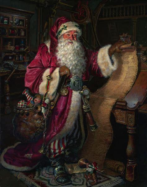 painting santa claus artodyssey dean morrissey