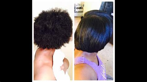 natural hair chop straightening youtube