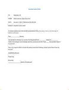 Business Letter Vacation Leave sample letter vacation leave sample business letter