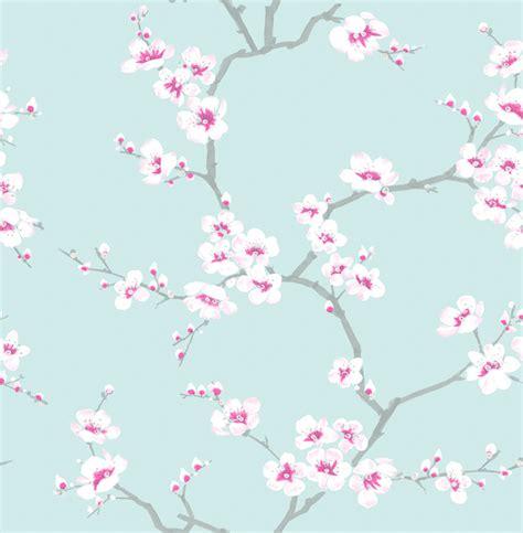 Fresco apple blossom tree wallpaper teal decorating diy