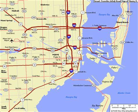 map of miami travel map travelquaz