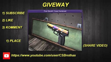 Go Five cs go giveaway five seven hardened closed