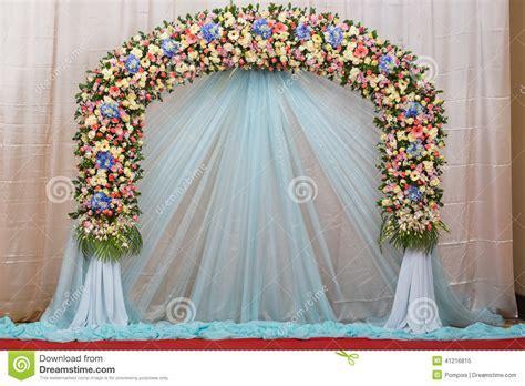 Background Of Beautiful Flower Wedding Decorate Stock
