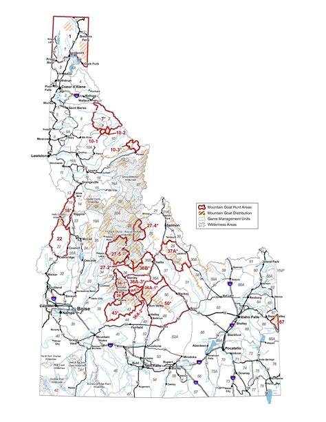 idaho unit map management units idaho fish and wildlife