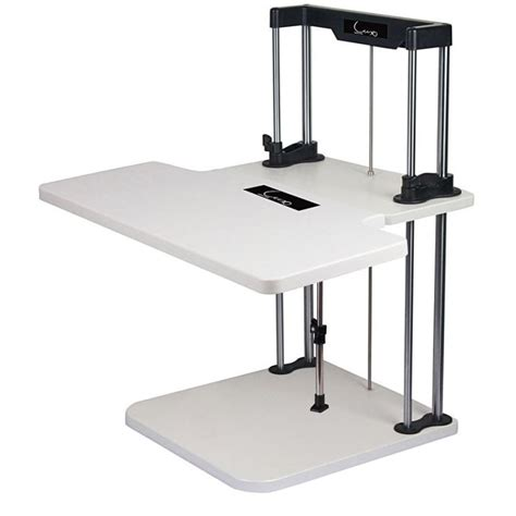 standing desk buy sherwin 2 tier adjustable sit standing desk white buy