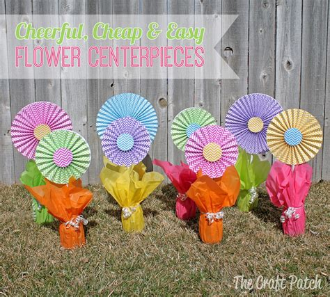 how to make paper flower centerpieces the craft patch cheerful cheap and easy flower centerpieces
