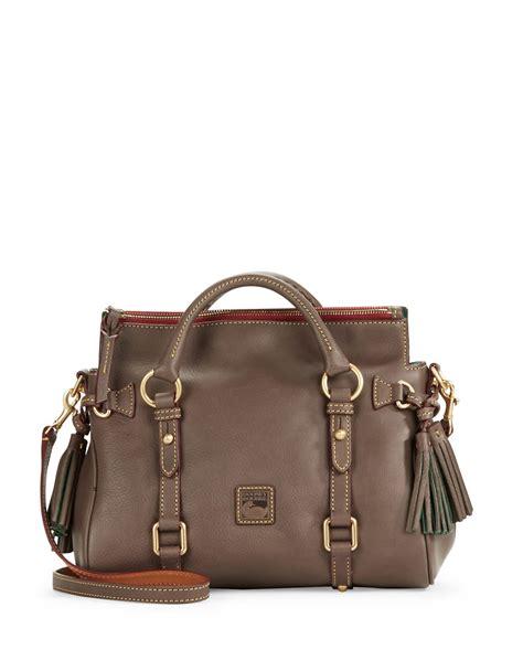 Dooney Bourke Ebelle5 Designer Dooney And Bourke Mini Handbag And Organizer Giveaway by Lyst Dooney Bourke Florentine Mini Leather Satchel In Gray
