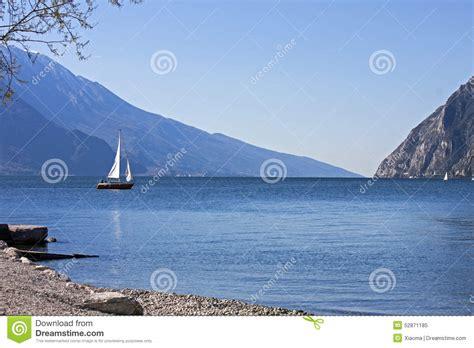 sailboat on lake sailboat on lake stock image cartoondealer 83737963