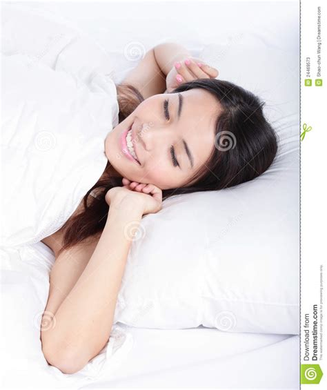wake up everybody no more sleeping in bed sleeping woman wake up in the morning stock photos image 24469573