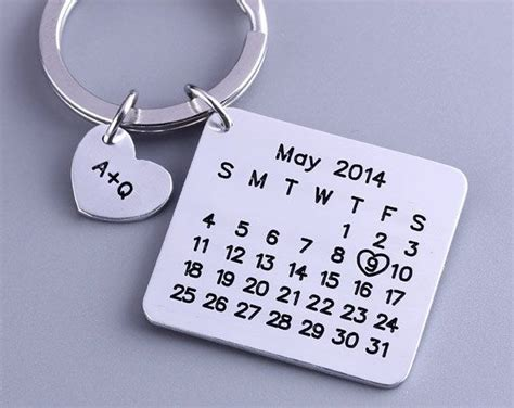 Calendar Keychain 25 Best Ideas About One Month Anniversary On